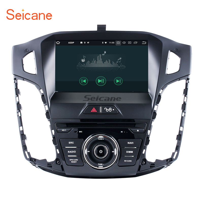 Seicane Android 8.0 car DVD Radio GPS Navigation System for 2011 2012 2013 Ford focus with Mirror link Bluetooth OBD2 DVR