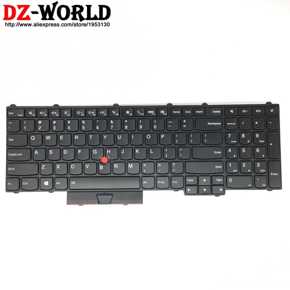 все цены на New Original for Lenovo Thinkpad P70 P50 US English Backlit Backlight Keyboard Teclado 00PA288 00PA370 SN20K85114 онлайн