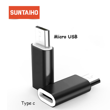 Suntaiho Type c to Micro USB Android Phone Cable Adapter Charger Converter for Xiaomi Mi6 Mi5 Huawei P9 P10 letv Type-c Cable