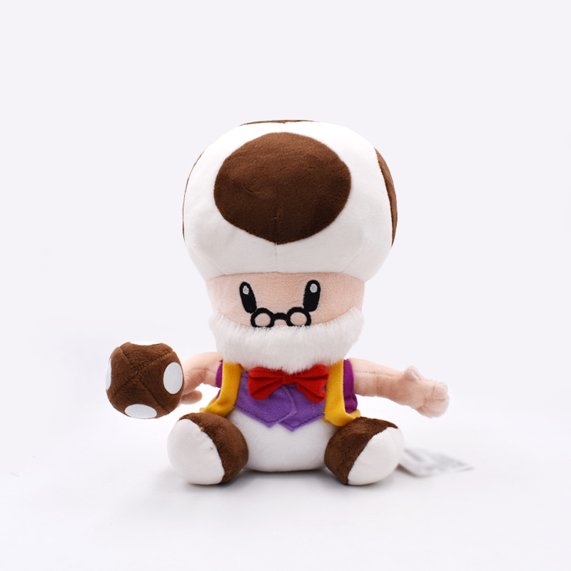 2018 Super Mario Bros Plush Toys Soft Stuffed Dolls 10inch 25cm Mushroom Old Man Peluche Toys Figures Dolls For Children's Gift 1