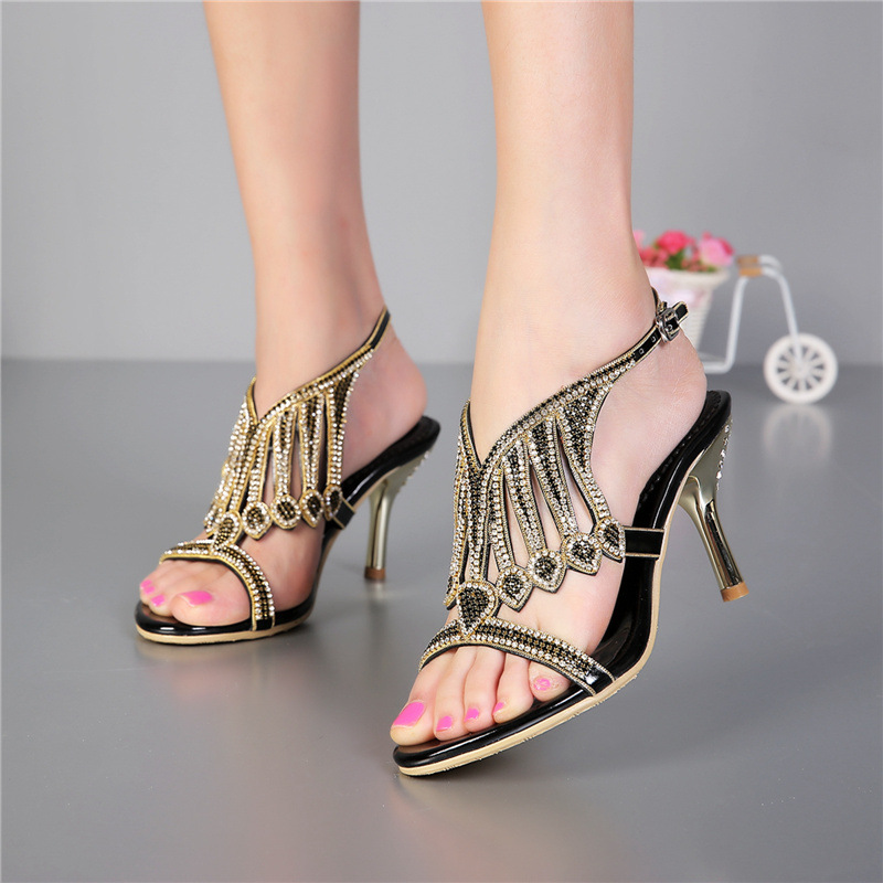 Female Shoes Summer New Diamond With Ladies Black High Heeled Sandals Women Comfortable Casual Sandal карабин black diamond black diamond gridlock screwgate