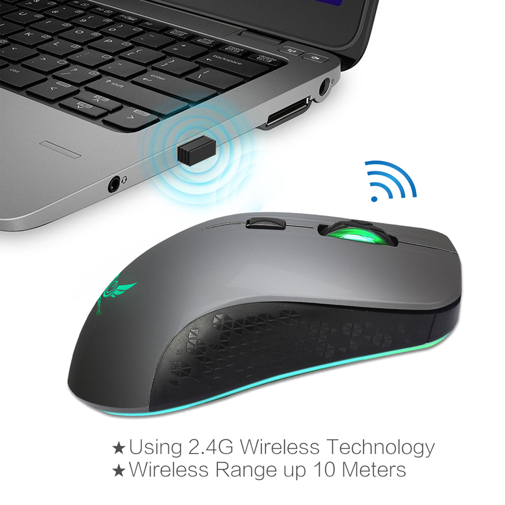 Rechargeable Wireless Mouse -6-Button 2 4G 2400 DPI