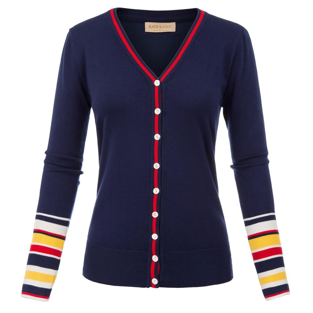 plus size women thin coat Long Sleeve V Neck Button Placket Contrast Color Knitting autumn Coat Tops