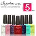 (Choose 5)Sapphire Gel The Best UV Gel 7.3ml Color Bottle Soak Off Nail Gel Polish14 Days Long lasting Gorgeous Color