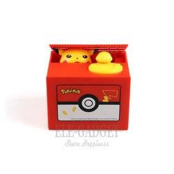 Nueva caja de dinero de plástico electrónico de Pokemon de 2019, caja de caja fuerte de dinero de hucha para regalo de cumpleaños, decoración de escritorio