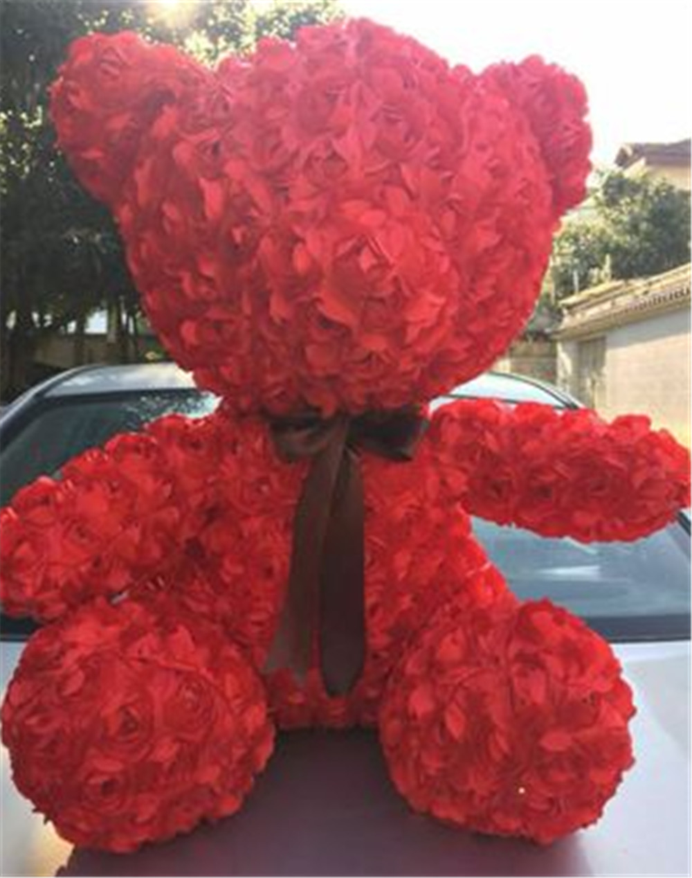 Fancytrader Red Rose Teddy Bear Toy Nice Quality Big Bear Teddy Doll 70cm 28inch for Kids Adults Gifts4