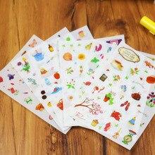 6 pcs/set  Happy Life Birthday Stickers Gardening Handbook Transparent Decorative Diary Album Tags