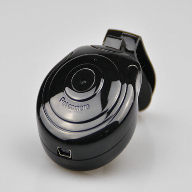 Useful Dog Cat Puppy Mini Camera Camcorder 480P Collar Video Recorder Monitor DVR for Your Pet Monitor Black