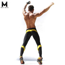Mens Workout Fitness Compression Leggings Pants Bottom Men Weight Lifting Bodybuilding Skin Tights Trousers M XXL