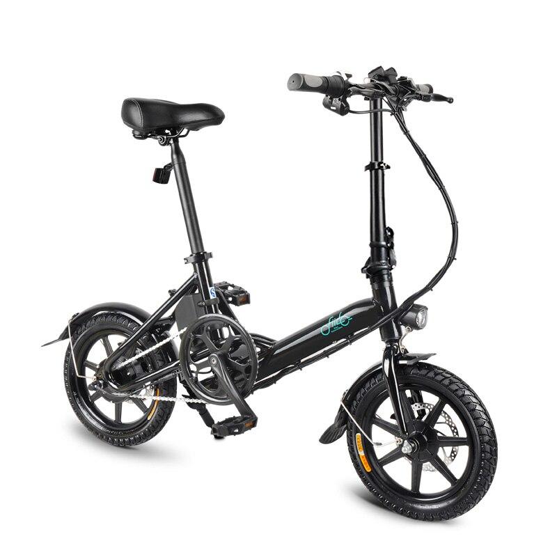 FIIDO D3 14″ 25KM/H Ebike 36V 7.8AH 250W Brushless Motor Alu. EU Front Rear Double Disc Brake Folding Electric Bicycle E Bikes