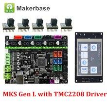 Carte de commande dimprimante 3D MKS Gen L V1.0 et MKS TFT32 5 pièces TMC2208 pilote avec dissipateur thermique Compatible pour Ramps1.4/Mega2560 R3