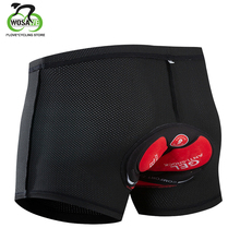 цена на WOSAWE Cycling Shorts Gel Padded Men Breathable Underwear Bicycle Mountain Bike MTB Downhill Riding Bike Sport Compression Short