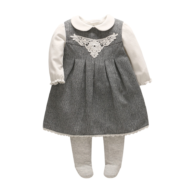 Vlinder 3pcs/Set Baby Girls Clothes Cotton Winter Rompers 3-6months Baby Girl Dress Carter Baby Girl Clothes Carter Bebe Romper carter s 3pcs baby children kids 3 piece babysoft footed pant set 126g315 sold by carter s china official store