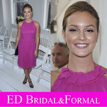 Leighton Meester Kleid Backless Lila Berühmtheit Abend Prom Formal Pageant Kleid