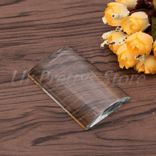 U Type Curved Tile Large Clear Eyelash Extension Stand Glass Glue Pallet HTY07