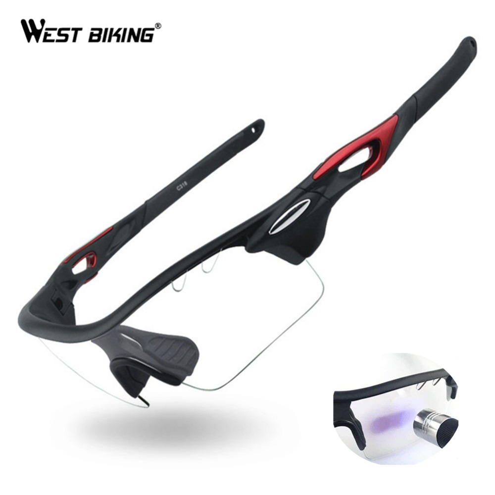 WEST BIKING Cycling Sport Sunglasses Photochromic Polarized Glasses UV Protection Sun Glasses For Biking Exchangeable 3 Lens oreka 1025 outdoor sport resin lens nickel alloy frame uv protection sunglasses black