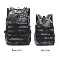 PUBG рюкзак мужская школьная сумка Mochila Pubg Battlefield пехота пакет камуфляж путешествия холст наушники USB Джек назад
