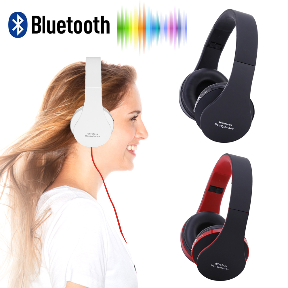 NX-8252 Foldable Wireless Bluetooth Headphones Sports Stereo Music Headband Headset with Mic for iPhone Samsung Smartphones
