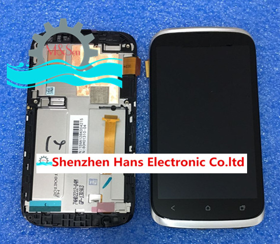 Original new LCD screen display+touch digitizer with frame For HTC Desire V T328w 328W  Silver/black free shipping tm8372 8372 integrated motherboard for acer laptop tm8372 8372 mbv060b001 6050a2341701