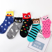 Cute warm women socks spring autumn Casual Deodorant Cotton Jacquard fish bone animal cartoon happy sock Pink black colors