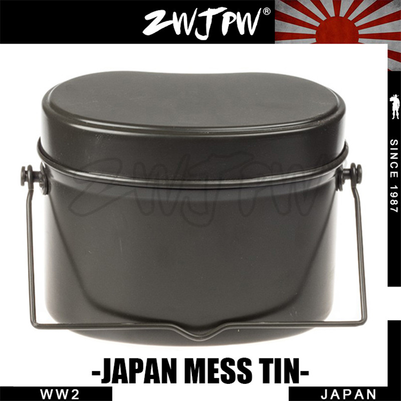 WWII WW2 JAPAN ARMY ALUMINUM LUNCH BOX CAMPING HIKING MESS TIN LUNCH - कैम्पिंग और लंबी पैदल यात्रा