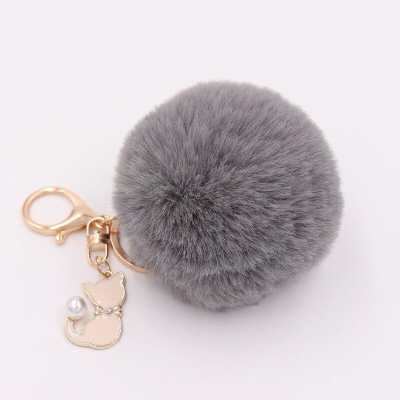 RE-Cat-Pendant-Keychain-Pompom-Rabbit-fur-ball-key-chain-fluffy-pompon-Keyring-Women-Key-Holder (1)