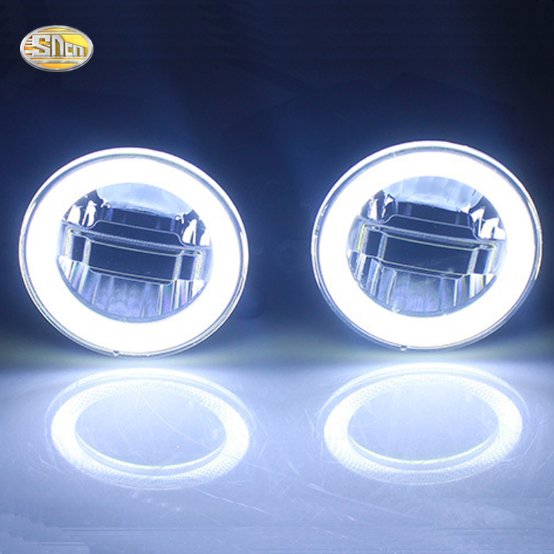 SNCN Led fog lamp for Suzuki Grand Vitara 2005~2016 S-cross 2014~2015 daytime running lights drl angle eyes light for opel astra h gtc 2005 15 h11 wiring harness sockets wire connector switch 2 fog lights drl front bumper 5d lens led lamp
