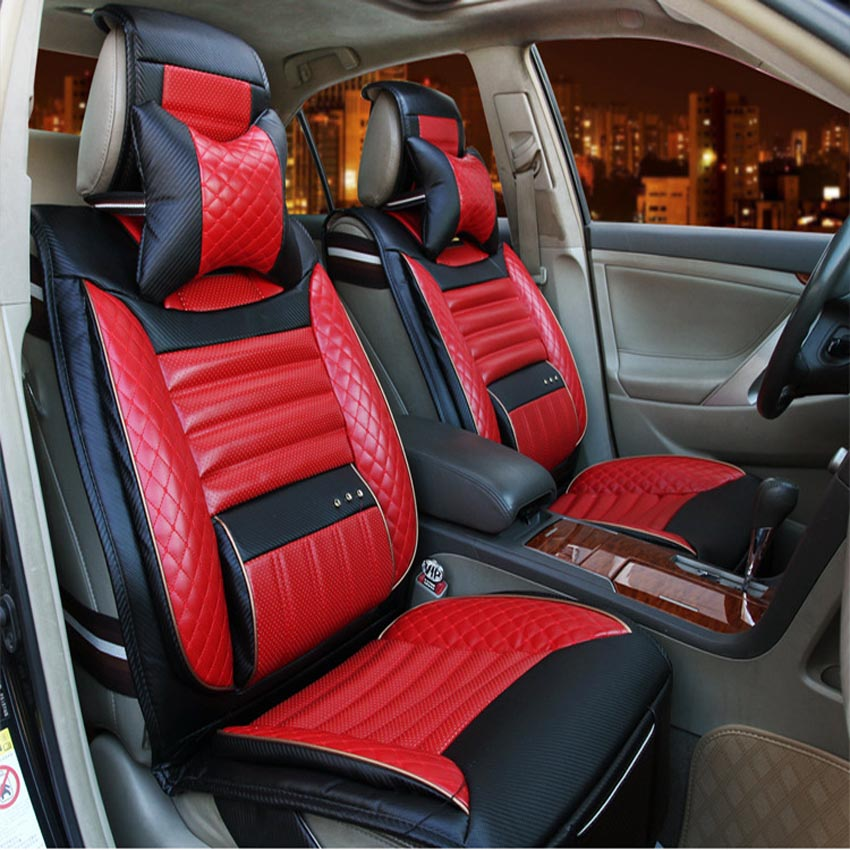 buy high quality pu leather car seat covers universal car seat covers interior. Black Bedroom Furniture Sets. Home Design Ideas