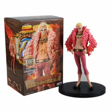 15th 17cm Doflamingo Anime one piece Action original Figure PVC model Collection figures for children toys free shipping sexy 9 one piece anime p o p cp9 kalifa boxed 22cm pvc action figure collection model doll toys gift