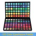 120 cores da paleta da sombra kit de maquiagem 01 com matte e shimmer Color sombra, 2 paletas dentro Dropshipping