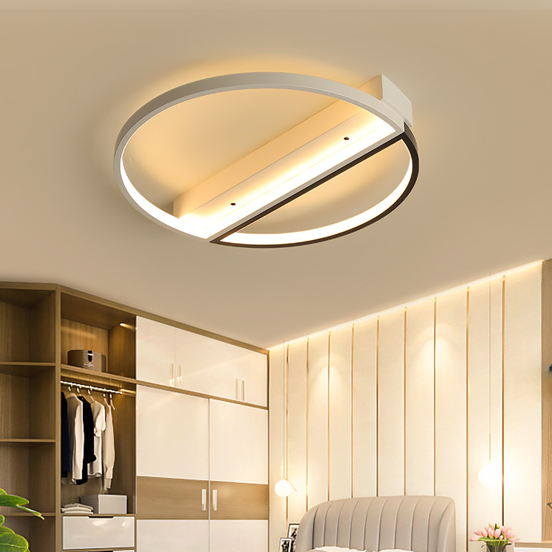 Black mixed white complete the living room bedroom study LED ceiling light lampara de techo modern Simple led ceiling light lamp все цены