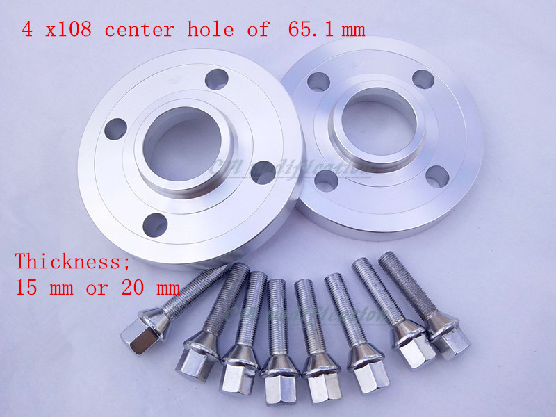 2 pieces of 4 x108, center hole 65.1 mm, wheel hub adapter, spacers, suitable for Peugeot series 206, 207, 307, 308, 406, 408 рулонный экран для проектора elite screens electric100v 100 4 3 152x203cm mw white