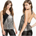 Hot Fashion Women Summer Casual Blouse Tank Tops Sleeveless Bling Vest T-Shirt