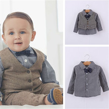 Toddler Boy Suit Wedding Clothes Formal Suit Gentleman 3 Pcs Autumn Kid Clothes Children Clothing Manufacture Clothing Set цена