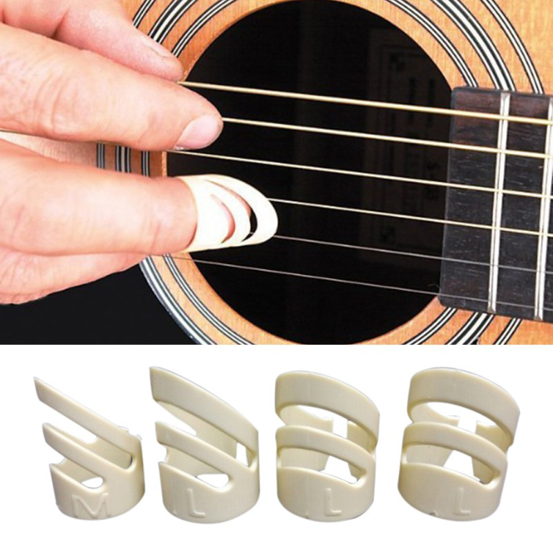 1 PCS Guitar Ring Fingertip Sets Guitar Accessories Guitar Picks Folk Music Pick Plectrum Guitar Finger Style Protect Fingers