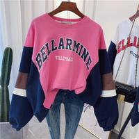 Shuchan Streetwear Korean Fashion Women's Sweatshirt oversize Kpop Sweatshirt Hip Hop Casual Letters Printed Hoodies Clothes