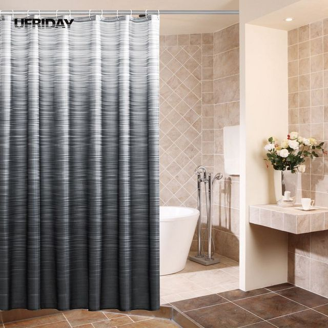 shower curtain for bathtub. UFRIDAY Black And White Striped Fabric Bathtub Shower Curtain Waterproof  Mildew Bathroom Thickness Curtains