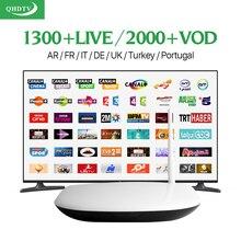 Дешевый IPTV Set Top Box RK3128 Франции Европейский канал спортивные 1300 каналов турецкий Швеции Нидерланды испанский qhdtv подписки