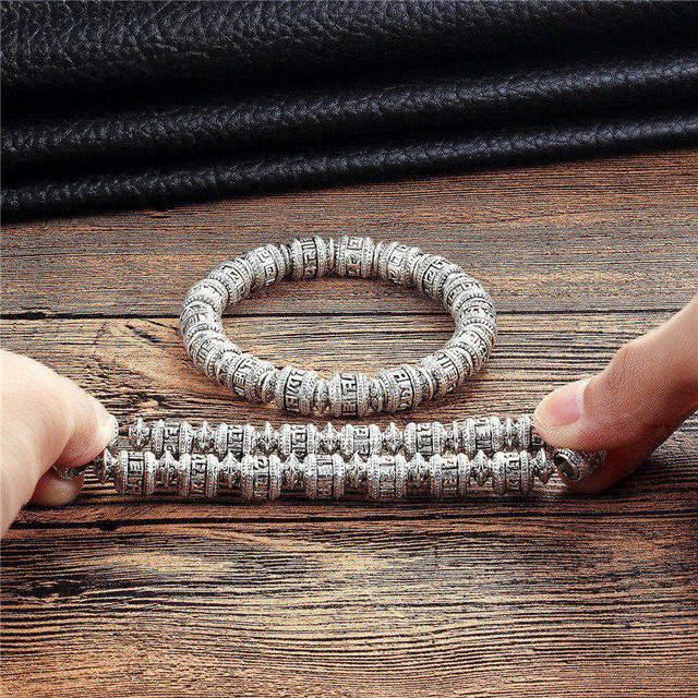 Новый Модный изысканный Тибетский ретро браслет мужской с мантрой