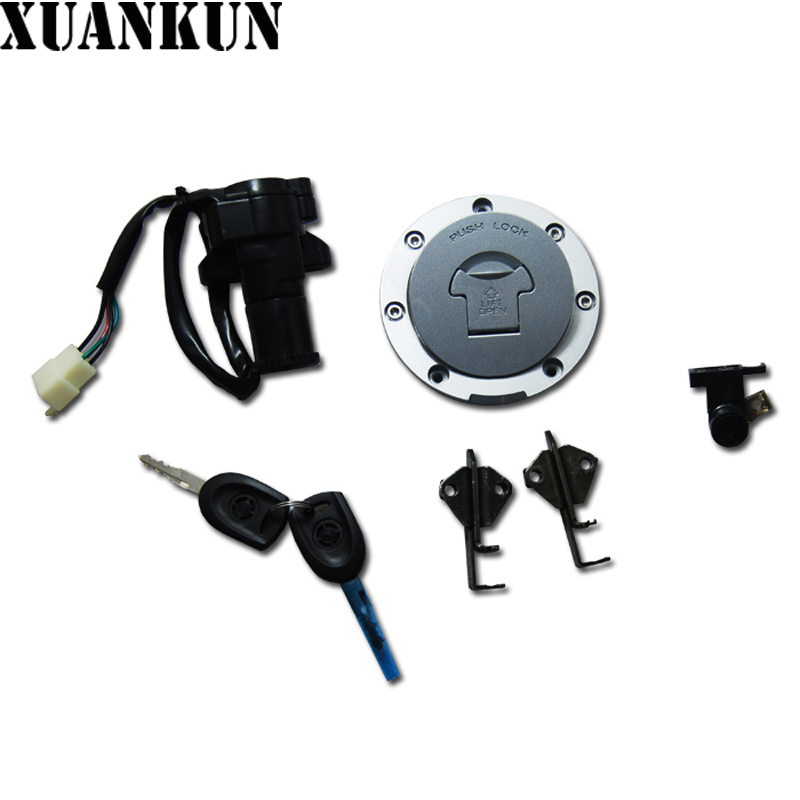 XUANKUN Motorcycle Fittings 650NK Lock Assembly Fuel Tank Lock Electric Door Lock Ignition Lock Sleeve Lock CFMOTO