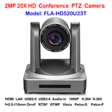 HD 2MP 1080p Indoor USB2.0 USB 3.0 PTZ Video Conferencing Camera with IP HDMI Stream 20x Optical Zoom 60fps