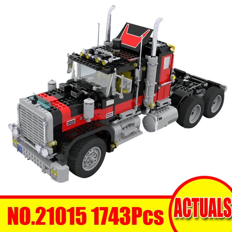 1743Pcs 21015 Lepin Technic Figures Giant Truck Model Kit Building Blocks Bricks Set Toys For Children Gift Compatible With 5571 lepin 16006 804pcs pirates of the caribbean black pearl building blocks bricks set the figures compatible with lifee toys gift