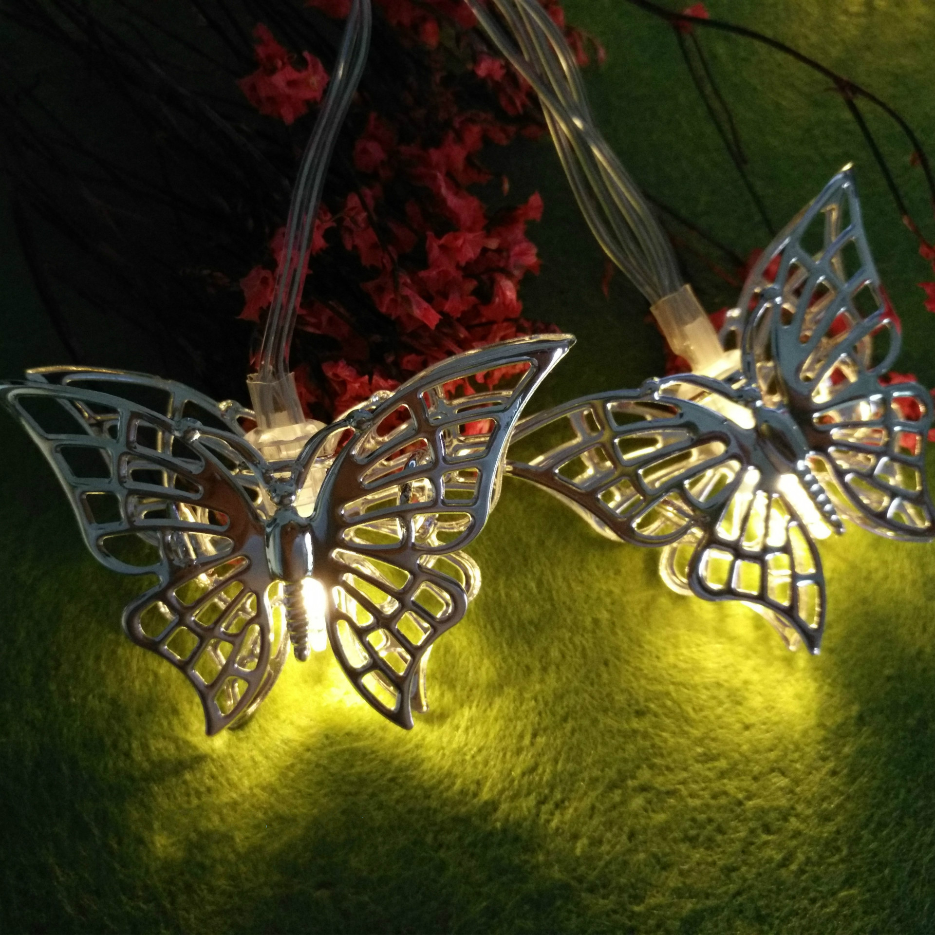 Outdoor Lighting Faithful Butterfly Led String 10led/20led Battery Powered Girls Room Decoration Lighting Indoor Light Wall Decoration Lamp Iy310202 Lights & Lighting