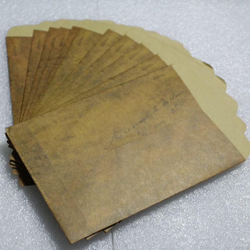 50 X old retro postcards manila envelope pouch wax paper envelopes free shipping