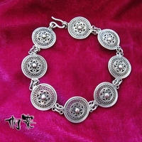 Miao Traditional Pinch Silk Craft Miao Silver Bracelet Wire Copper Drum Bracelet Free Shipping