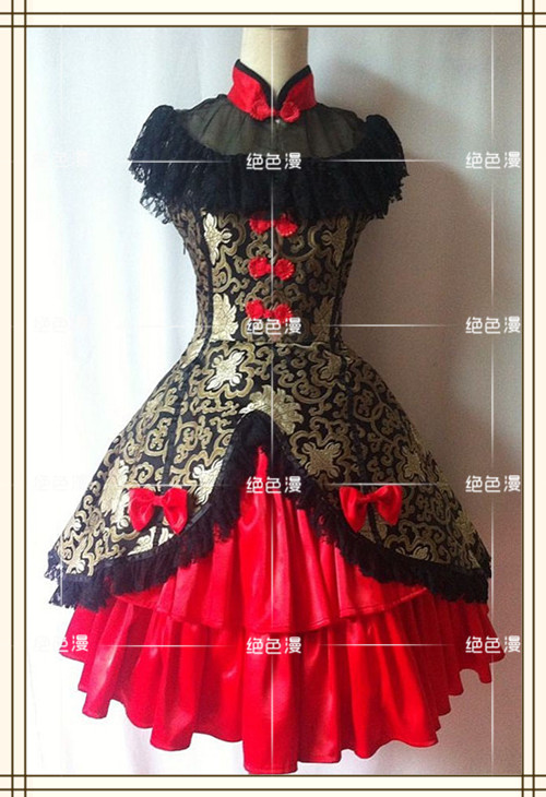 New Lolita Dress Slim Vintage  Dress Cosplay Costume Women Dress Costom Made Free Shipping