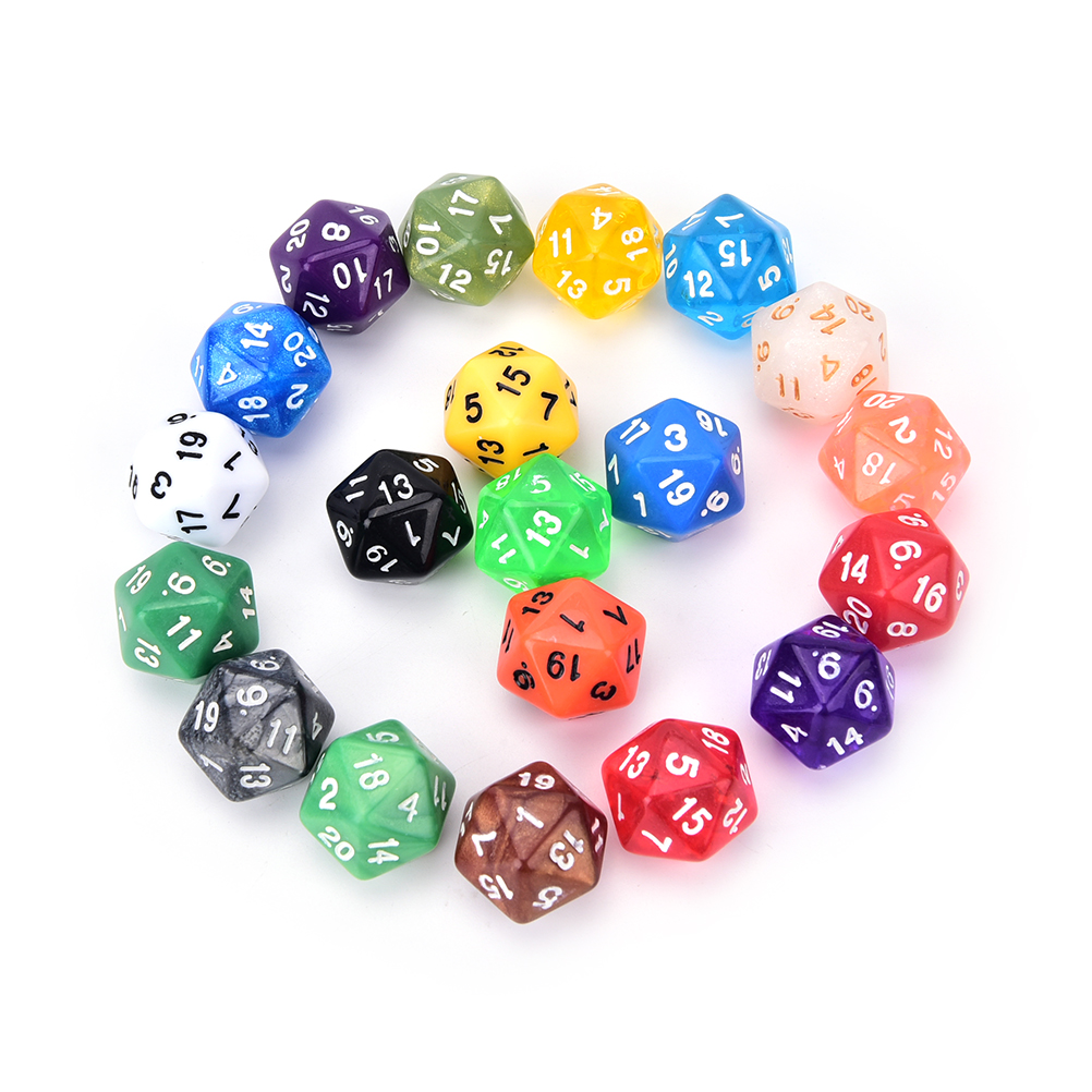 1PC 20 Side Digital Dice Number 1-20 For Rpg Game DICE Colorful D20 Dice Set Opaque Effect,Dungeons And Dragon High Quality