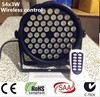 Wireless Remote Control 54x3W RGBW Mini LED Par Wash Light For Event Disco Party DJ Dmx