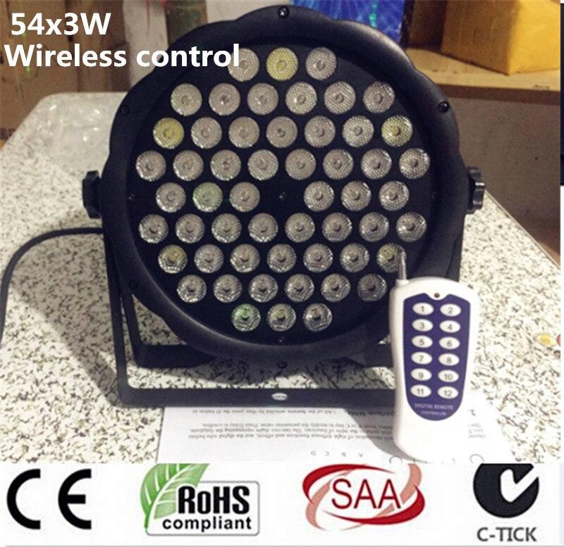 Wireless remote control 54x3W RGBW mini LED Par Wash Light For Event,Disco Party DJ dmx light disco light