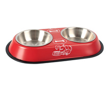 Double Pet Food/Water Bowl